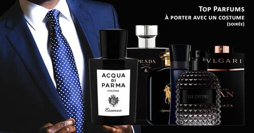 Parfums costume cravate, top 10 des parfums à porter lors d'une soirée chic