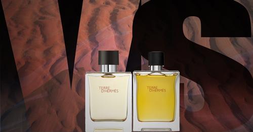 Terre d'Hermès vs Terre d'Hermès Parfum, les différences
