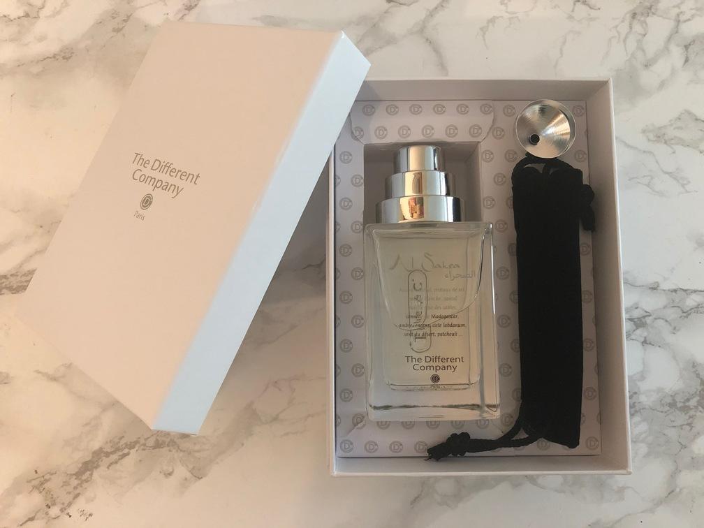 Ecrin de parfum The Different Company ouvert